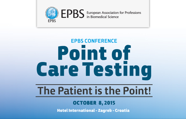 EPBS Conference: Point of Care Testing, 8th October, Zagreb, Croatia